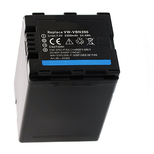 Amsahr Digital Replacement Camera and Camcorder Battery for Panasonic VW-VBN390