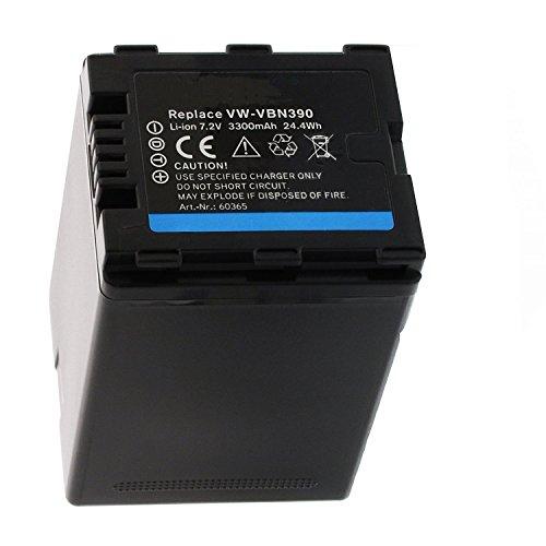 Batteria di ricambio per fotocamera digitale e videocamera per panasonic vw-vbn390