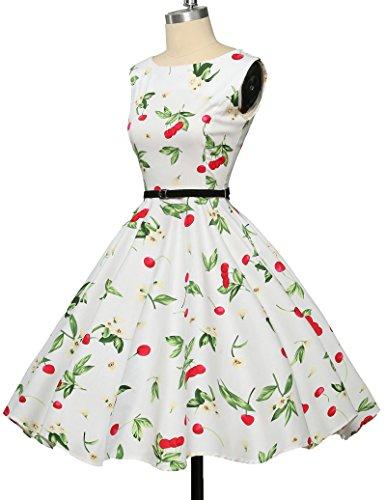 Damen rockabilly kleid 50er jahre kleid festliche kleider vintage knielang partykleider Größe M CL6086-4 - 5