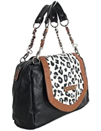 MORGAN sac à main MM18100104 LEOPARD 3 noir
