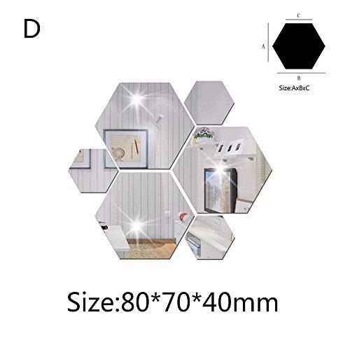 OIKAY Wandaufkleber 7 Stücke 3D Spiegel Hexagon Vinyl Abnehmbare Wandaufkleber Aufkleber Home Decor Art DIY hausgarten küche zubehör dekorative aufkleber wandbilder (Potter-wort-magnete Harry)