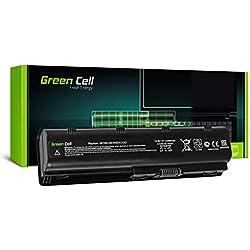 Green Cell® Standard Série MU06 Batterie pour HP 250 255 2000 635 650 655 Pavilion G4 G6 G62 G7 Compaq Presario CQ56 CQ62 Ordinateur PC Portable (6 Cellules 4400mAh 10.8V Noir)