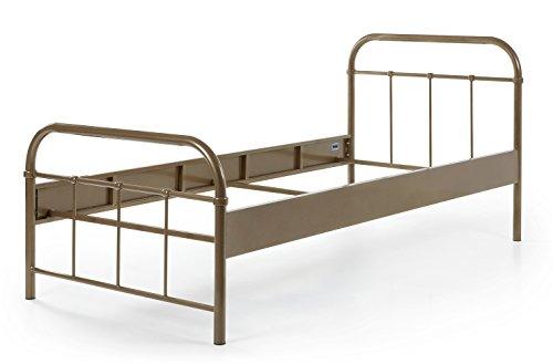 Metallbett Janek 90*200 cm braun Jugendzimmer Kinderzimmer Gästezimmer Kinderbett Jugendbett Jugendliege Bettliege Bettgestellt Einzelbett
