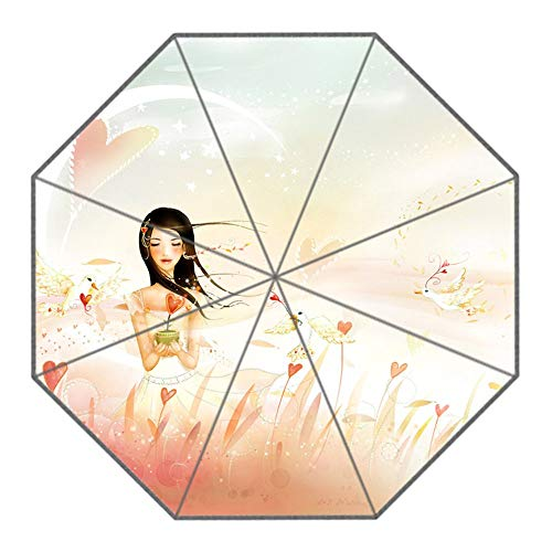XGBDTJ Importiert Klappbarer Regenschirm DIY Personalisierte Sexy Girl Design Outdoor Travel Umbrella Mode Living Frauen (Color : C, Size : One Size) - Sexy Importiert