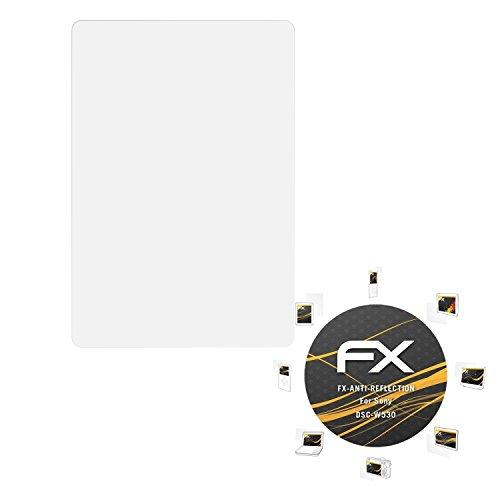 atFoliX Panzerfolie kompatibel mit Sony DSC-W530 Schutzfolie, entspiegelnde und stoßdämpfende FX Folie (3X)