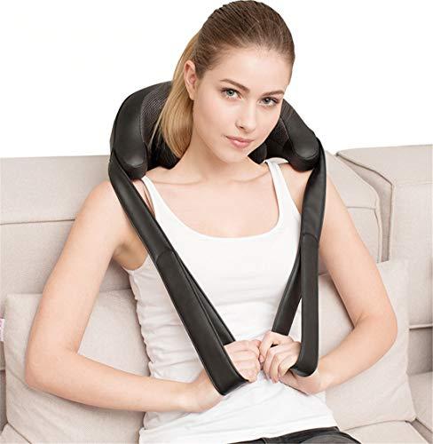 Schulter Massagegerät Elektrisch für Nacken Rücken Shiatsu Nackenmassagegerät mit Wärmefunktion 3D-Rotation Massage Einstellbaren Geschwindigkeiten für Haus Büro Auto