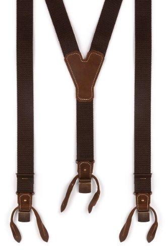 Trachten Hosenträger - BASIC-DUNKEL - braun, Größe 120 cm