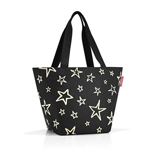 Reisenthel Shopper M Stars, Polyester, Schwarz 51 x 30.5 cm