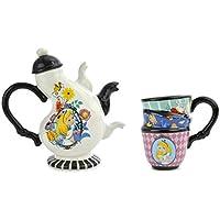 Idealcasa - Set teiera + tazza in ceramica, motivo Alice Nel Paese Delle Meraviglie di Disney, 500 ml