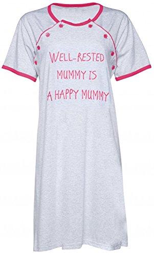 Happy Mama. Femme allaitement chemise nuit / peignoir VENDUE SÉPARÉMENT. 474p Chemise de nuit - Corail