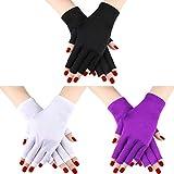 Guanti da 3 paia di guanti protettivi per guanti anti-UV Guanti anti-UV per guanti protettivi proteggono le mani dai raggi UV della lampada (Set di colori 2)