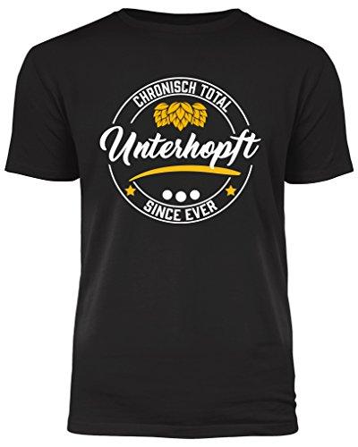 Chronisch Unterhopft - das T-Shirt für alle Bierliebhaber und Genießer (XL)