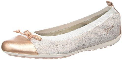 Geox JR PIUMA BALLERINE D, Mädchen Geschlossene Ballerinas, Beige (ROSEC8011), 32 EU