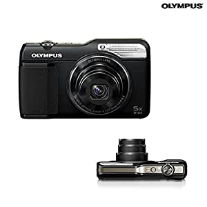 Olympus VG-190 16MP Point and Shoot Camera (Black) with 5x Optical Zoom, Memory Card and Camera Case