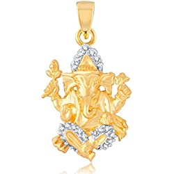 Vina Fashion Jewellery Religious Collection Gold Brass Alloy Cz American Diamond God Pendant for Men And Women Vkp1020Ga
