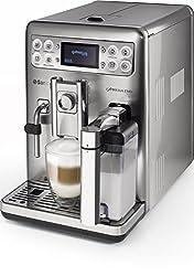 Saeco HD8858/01 Exprelia Kaffeevollautomat, AquaClean, integrierte Milchkaraffe, silber