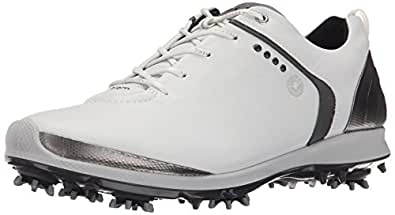 ECCO Men's Biom G2 Golf Shoe, White/Dark Shadow, 41 EU/7-7.5 M US