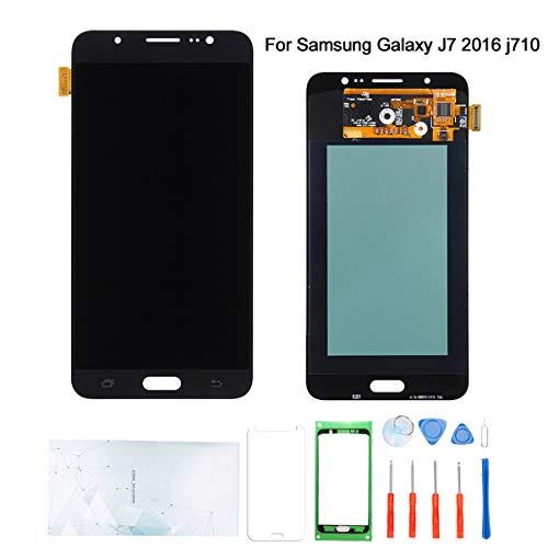 Kosuroum Ersatzdisplay für Samsung Galaxy S4 / S5 / S6 LCD Glas Display Touch Digitizer Montagewerkzeug, Black-J7(2016) J710 S6-lcd