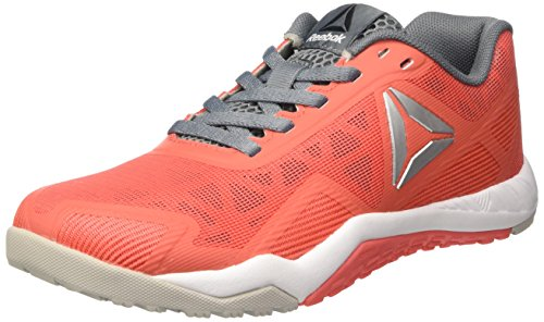 Reebok Ros Workout TR 2.0, Scarpe Sportive Indoor Donna, Rosso (Fire Coral/Skull Grey/Asteroid Dust/Pure Silver), 39 EU