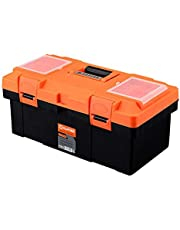 Harden Professional Reinforced Plastic Moulding Tool Box with Transparent Accessories Storage Box and Isolation Tray (40 X 21X 19 cm) - 520302B