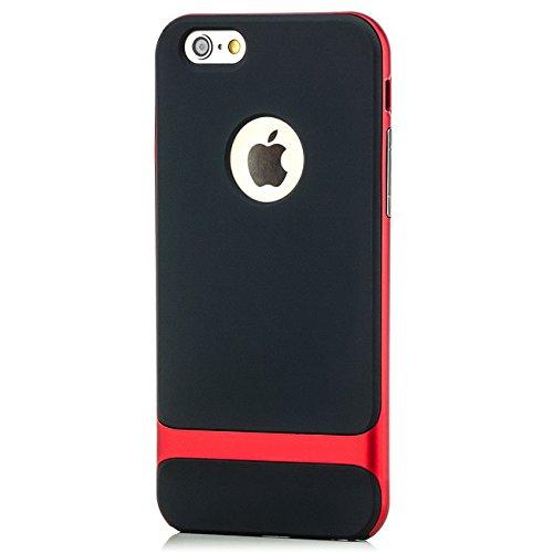 Saxonia Housse De Protection Étui Coque + Verre Trempé pour Apple iPhone 6 6S Mince Silikon Case Protecteur Bumper Cover  Rouge Rouge
