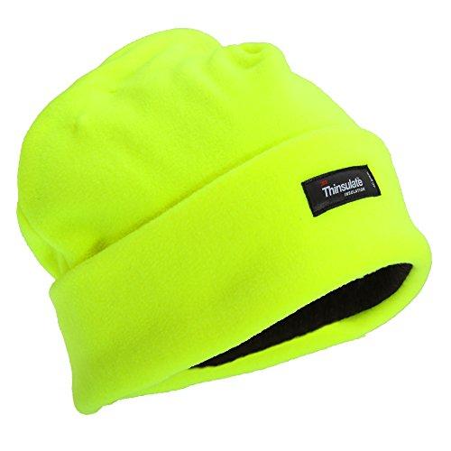 Floso - berretto in pile alta visibilità con isolante termico - uomo (taglia unica) (giallo fluo)