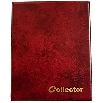 COLLECTOR Album di Monete da Collezione per Monete di Varie Dimensioni con Diverse Pagine munite di divisori con Elenco Album per 300 Monete Verde