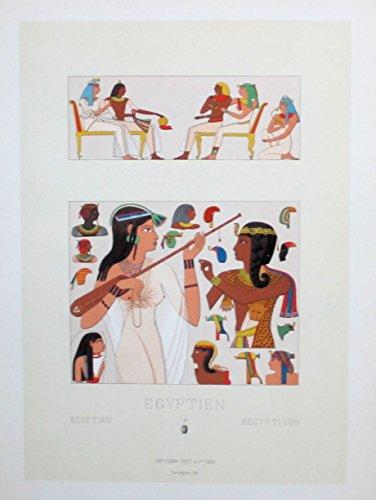 Egypt Ägypten Tracht costumes Trachten Lithographie ()
