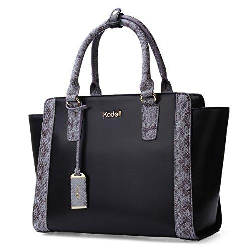 Kadell Frauen Trapez Tasche Designer Geldbörse Handtasche Top-Griff Kreuz Geld börse Tote (Handtaschen Designer Billig)
