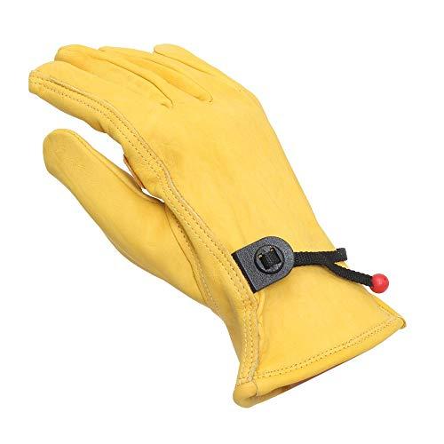 Bruce Dillon Guanti da moto vintage in pelle gialli per moto antisdrucciolevoli da equitazione sport da lavoro guanti da caccia pieni dita sml xl universale x
