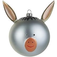 Alessi - Decoración colgante para árbol de navidad, forma de cabeza de burro
