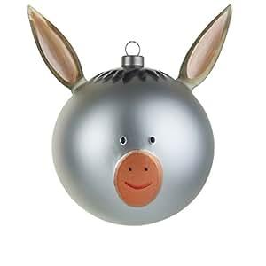 Alessi NATALE PRESEPE ASINO ASINELLO AMJ13 5 sfera VETRO pallina palla natalizia