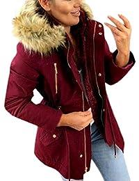 VICGREY ❤ Moda Cappotto Donna Cappuccio Taglie Forti Invernale Elegante  Caldo Cappotti Eleganti Parka Lunghi Giacca 3a821602309