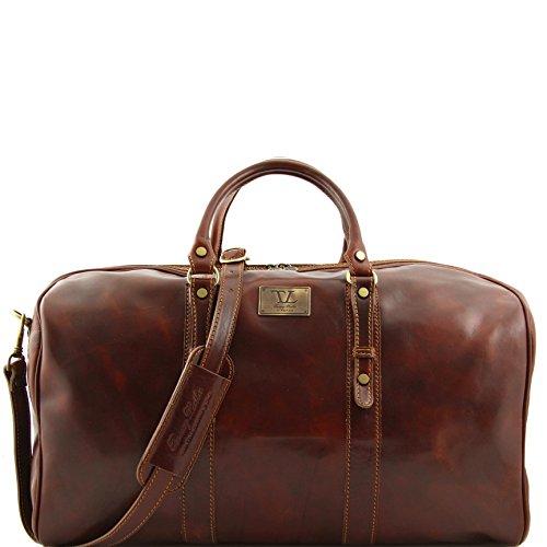 81408604 - TUSCANY LEATHER: FRANCOFORTE - Elégant sac voyage en cuir - Grand modéle, marron