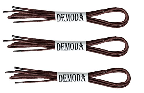 Demoda Thin Shoe Laces for Formal Shoes(Pack of 3 pair- Brown)
