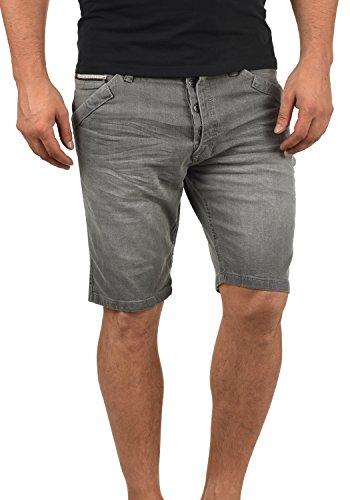 Indicode Alessio Herren Jeans Shorts Kurze Denim Hose Aus Stretch-Material Regular Fit, Größe:XL, Farbe:Light Grey (901)