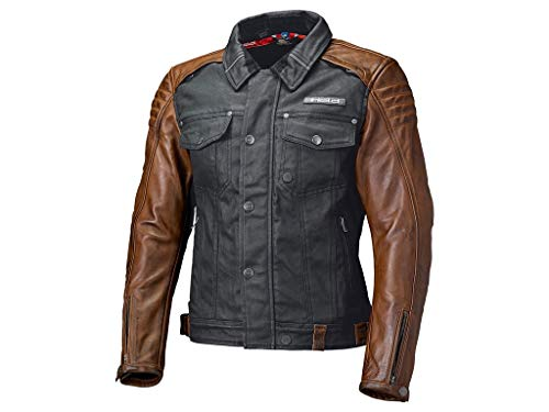 Held Motorradschutzjacke, Motorradjacke Jester Urban Jacke schwarz/braun L, Herren, Chopper/Cruiser, Ganzjährig, Leder/Textil (Moto-leder-jacke)