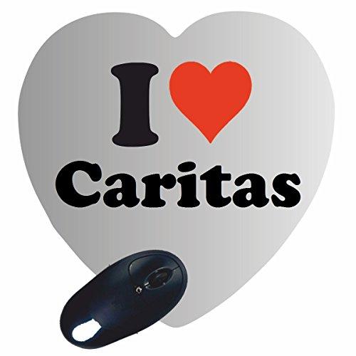 """Regali Esclusivi: Cuore Tappetini per il Mouse """"I Love Caritas"""", un Grande regalo viene dal Cuore - Ti amo - Mouse Pad - Antisdrucciolevole - Punte di Natale"""