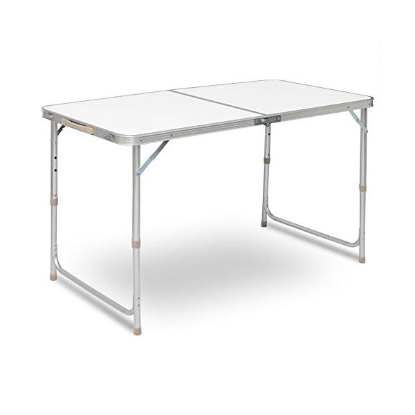 Klapptisch Gartentisch.Woltu Campingtisch Klapptisch Gartentisch Arbeitstisch Balkontisch Höhenverstellbar Aluminium Mdf