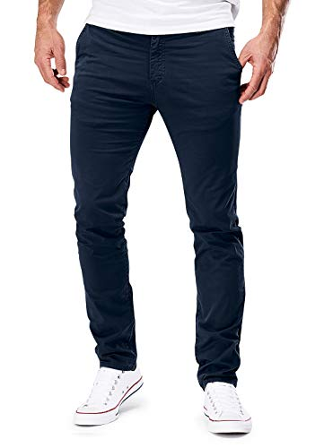 MERISH Chino Hosen Herren Slim Fit Jogger Hose Stretch Neu 401 (30-32, 401 Dunkelblau)