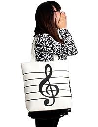 Wuiyepo Lady Mode épaule simple musicale Remarque Fourre-tout de la recherche Sacs à bandoulière