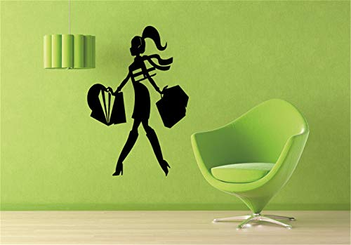 wandaufkleber 3d Wandtattoo Wohnzimmer Einkaufszentrum Fashion Style Trends Kostüm Kleidung Aufkleber für Mädchen Schlafzimmer Wohnzimmer (Fisch Stick Kostüm)
