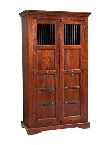 MASSIVMOEBEL24.DE Kolonialmöbel Schrank Akazie massiv Holz Oxford #413