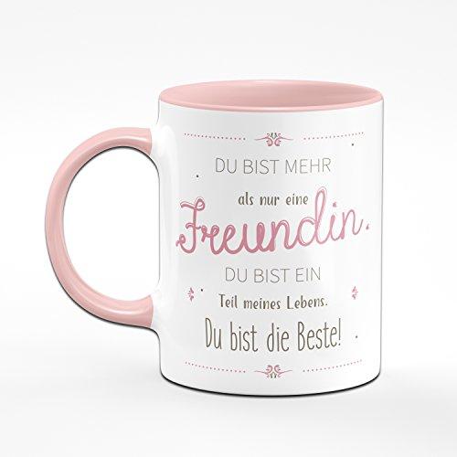 Tasse Du Bist Mehr als Nur Eine Freundin Du Bist Ein Teil Meines Lebens - Geschenk für Freudin - Kaffeetasse - 2
