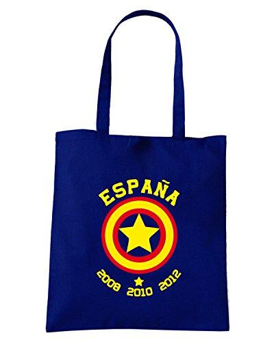 T-Shirtshock - Borsa Shopping WC0105 ESPANA SPAGNA SPAIN Blu Navy