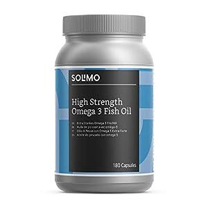 Amazon-Marke: Solimo Extra Starkes Omega 3 Fischöl 1000 mg, Nahrungsergänzungsmittel 180 Kapseln