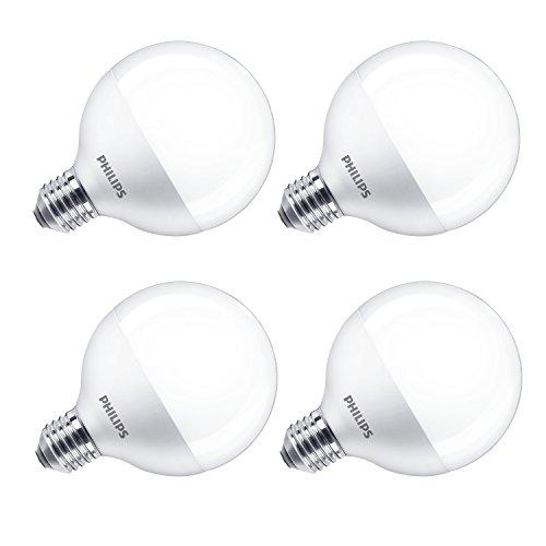 Philips LED Globe 15W (100W) G93lampadina Edison E27, satinato–bianco caldo, Sintetico, White, E27, 16.5 wattsW 240 voltsV