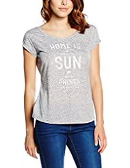 Mustang Printed Nappy Tee - T-Shirt - Femme