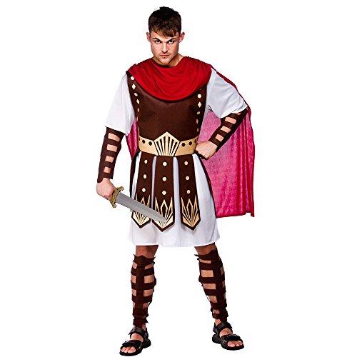 Kostüm Sandalen Braun Römische - Unbekannt Gladiatoren-Kostüm Römischer Krieger braun-Weiss-rot S
