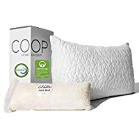 Coop Home Goods - Premium Adjustable Loft - Shredded Hypoallergenic Certipur Memory Foam Pillow with Washable Removable Cover King COOPKING